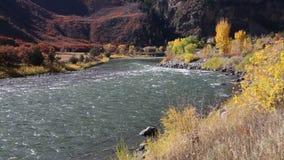 Couleurs d'automne sur le fleuve Colorado banque de vidéos