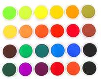 couleurs d'eau d'isolement Image libre de droits