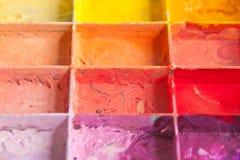 Couleurs d'ombre sur la palette Images stock