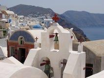 Couleurs dans Santorini Photo stock