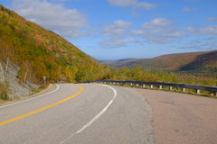 Couleurs de chute sur le ` breton s Cabot Trail de cap Photo stock