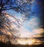 Couleurs de ciel Image libre de droits