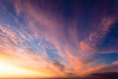 Couleurs de Cirrus de nuages Images stock