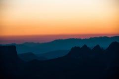 Couleurs de coucher du soleil Image libre de droits