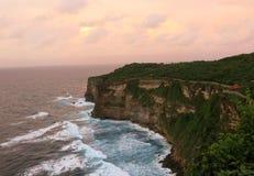 Couleurs de coucher du soleil dans Bali Photographie stock