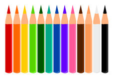 Couleurs de crayon Photos libres de droits