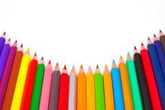 Couleurs de crayon Images libres de droits