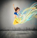Couleurs de danseur photo stock