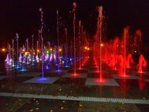 Couleurs de fontaine d'eau Kazan 2016 Images stock