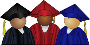 Couleurs de graduation Photos stock