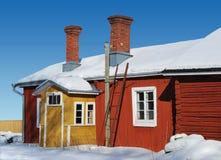 Couleurs de l'hiver de la Finlande photo libre de droits