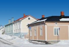 Couleurs de l'hiver de la Finlande Photos libres de droits