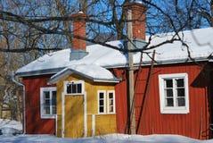 Couleurs de l'hiver de la Finlande photo stock