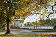 Couleurs de la chute au parc volontaire, Seattle Washington Photos libres de droits