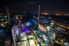 Couleurs de nuit de fest d'Ostrava Images libres de droits