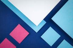 Couleurs de papiers carrés Photo libre de droits
