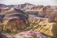 Couleurs de paysage en parc national de bad-lands Photographie stock libre de droits