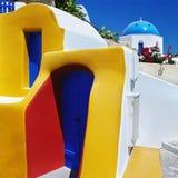 Couleurs de Santorini image libre de droits