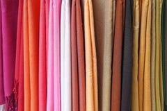 Couleurs de textile Photo libre de droits