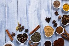 Couleurs des épices Photo stock