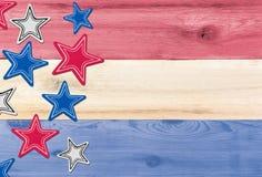 Couleurs des Etats-Unis de drapeau avec des étoiles pour le Jour de la Déclaration d'Indépendance Photographie stock libre de droits