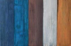 Couleurs en bois de fond, texture multicolore en bois de planches Photo stock