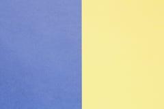 Couleurs en pastel bleues et jaunes de fond avec l'espace de copie Image libre de droits