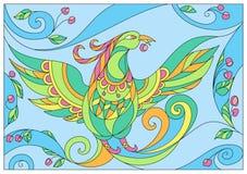 Couleurs en pastel d'été abstrait d'oiseau Photo libre de droits