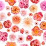 Couleurs en pastel de modèle sans couture de fleur de papier de crêpe Photographie stock libre de droits
