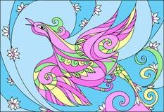 Couleurs en pastel de ressort abstrait d'oiseau Photo libre de droits