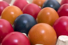 Couleurs et tradition, oeufs de pâques images stock
