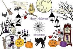 Couleurs Halloween carte Photographie stock