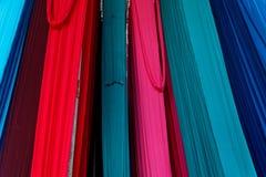 Couleurs merveilleuses indiennes d'industries textiles Photographie stock libre de droits