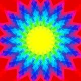 Couleurs multi abstraites de poly art pour le fond, couleurs géométriques d'effet de remous, style hypnotique de papier peint d'a illustration stock