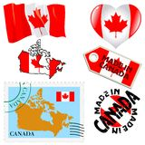 Couleurs nationales de Canada Image stock