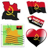 Couleurs nationales de l'Angola Photo libre de droits