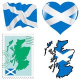 Couleurs nationales de l'Ecosse Image libre de droits