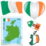 Couleurs nationales de l'Irlande Images libres de droits