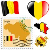Couleurs nationales de la Belgique Photo libre de droits