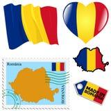 Couleurs nationales de la Roumanie Photo libre de droits