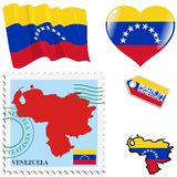 Couleurs nationales du Venezuela Photographie stock