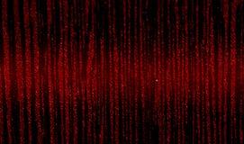 Couleurs noir-et-rouges d'abstraction avec le débordement brillant au centre Image stock