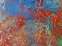 Couleurs rouges et bleues de fond d'art abstrait photo libre de droits