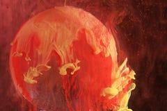 Couleurs rouges et jaunes abstraites Image libre de droits