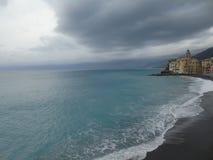 Couleurs sur la mer dans Camogli Photo libre de droits
