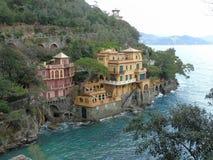 Couleurs sur la mer dans Portofino Photographie stock libre de droits