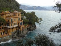 Couleurs sur la mer dans Portofino Photographie stock