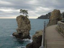Couleurs sur la mer dans Portofino Photo stock