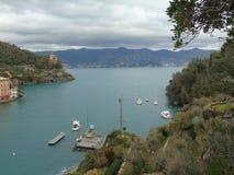 Couleurs sur la mer dans Portofino Image libre de droits