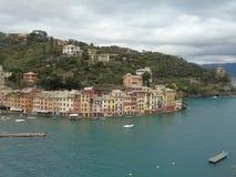 Couleurs sur la mer dans Portofino Photos stock